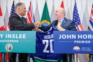 B.C. Premier John Horgan and Washington State Governor Jay Inslee