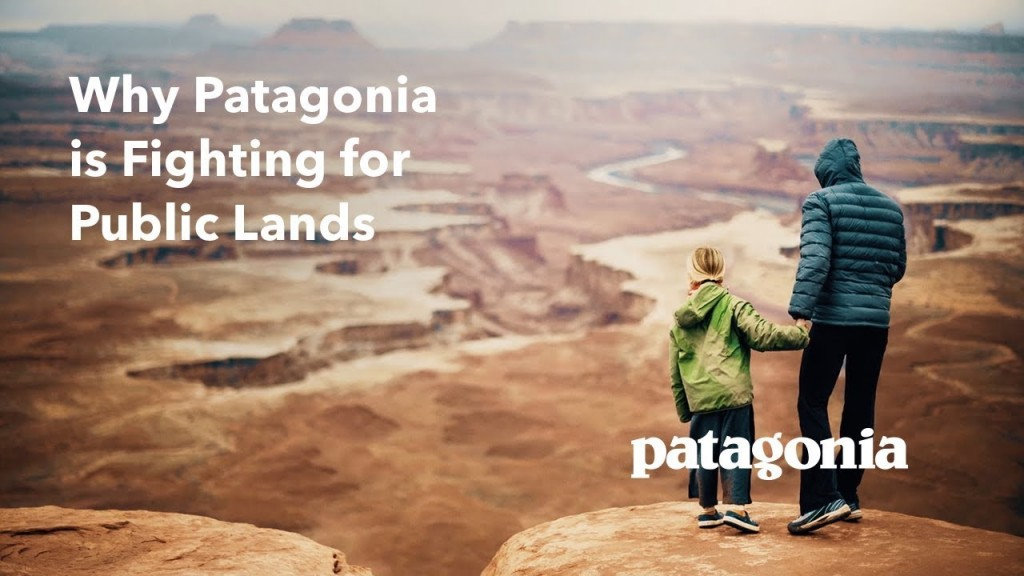 Patagonia Ad: Why Patagonia is Fighting for Public Lands: two people look over at national monument