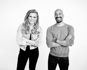Michele Romanow and Andrew D'Souza of Clearbanc